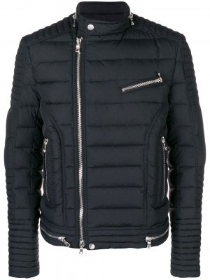 Down biker jacket Balmain. Цвет: черный