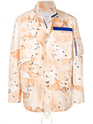 Пальто Desert Storm с камуфляжным принтом Soulland. Цвет: телесный