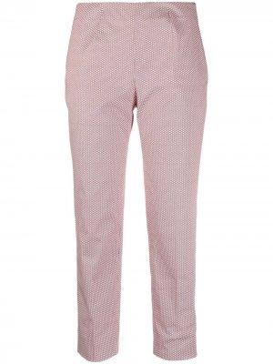 Укороченные брюки средней посадки Piazza Sempione. Цвет: красный