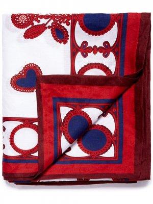 Скатерть (180 x 350) с вышивкой La Doublej. Цвет: белый