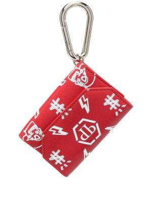Ключница с монограммой Philipp Plein. Цвет: красный