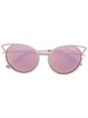 Солнцезащитные очки в оправе кошачий глаз Vogue Eyewear. Цвет: серый