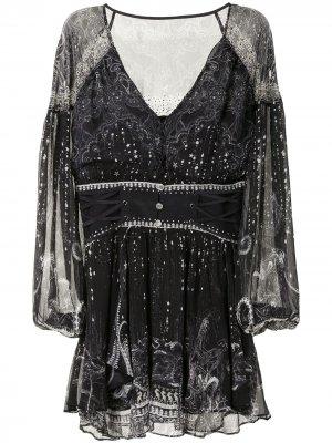 Платье мини Midnight Pearl Camilla. Цвет: черный
