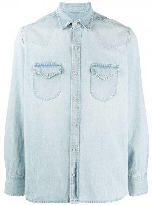 Джинсовая рубашка с эффектом потертости Fortela. Цвет: синий