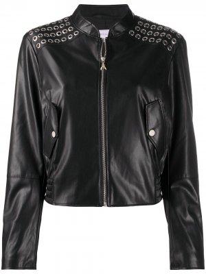 Куртка из искусственной кожи на молнии Patrizia Pepe. Цвет: черный
