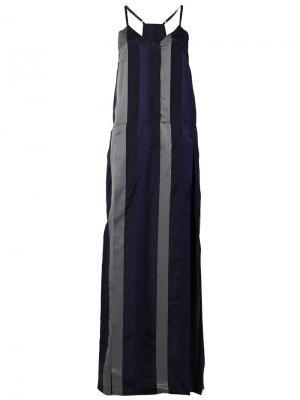 Платье на бретельках Ilaria Nistri. Цвет: черный