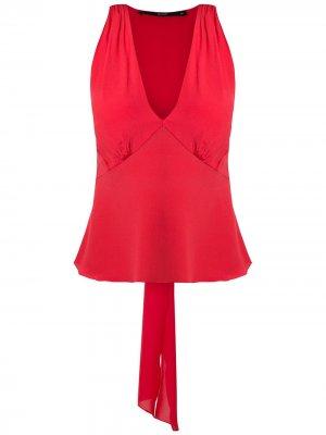 Блузка с завязками Eva. Цвет: красный