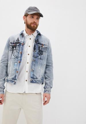 Куртка джинсовая Scotch&Soda. Цвет: голубой