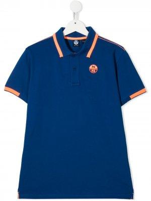 Рубашка поло с логотипом North Sails Kids. Цвет: синий