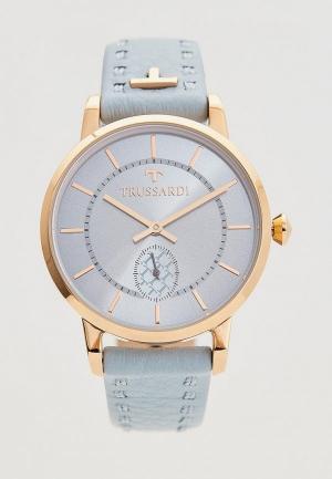 Часы Trussardi. Цвет: голубой