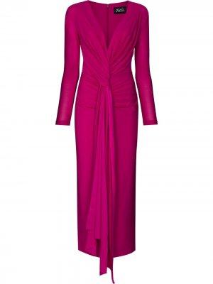 Платье миди Lorena Solace London. Цвет: розовый