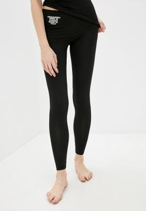 Леггинсы Dsquared2 Underwear. Цвет: черный