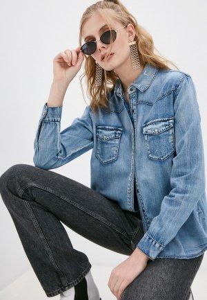 Рубашка джинсовая One Teaspoon. Цвет: синий