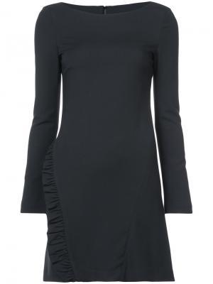 Приталенное платье с рюшами Thomas Wylde. Цвет: черный