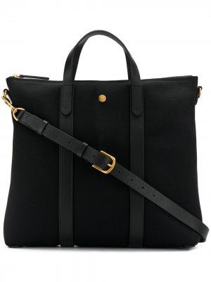 Парусиновая сумка-тоут MS Mismo. Цвет: черный