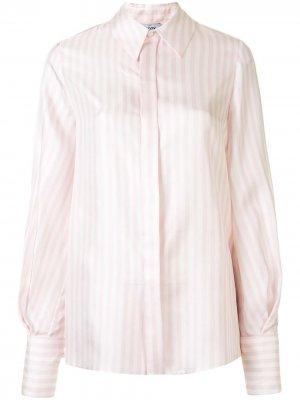 Рубашка в полоску с рукавами бишоп Dice Kayek. Цвет: розовый