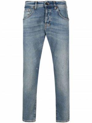 Прямые джинсы с эффектом потертости Prps. Цвет: синий