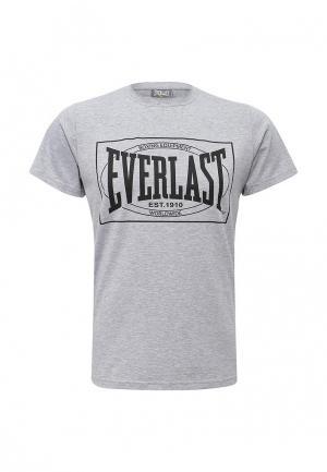 Футболка Everlast. Цвет: серый