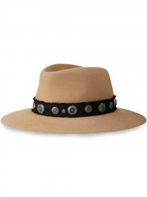 Шляпа-федора Charles Maison Michel. Цвет: нейтральные цвета