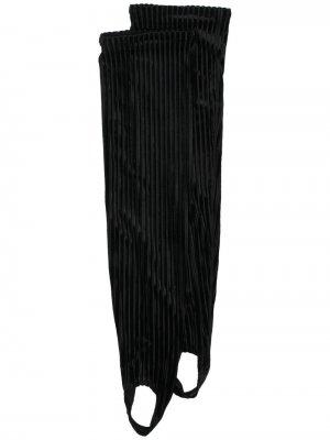 Бархатные носки для аэробики в рубчик Simone Wild. Цвет: черный