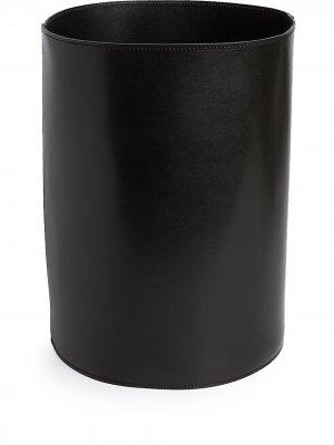 Высокая корзина из зернистой кожи Michael Verheyden. Цвет: черный