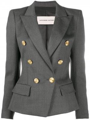 Двубортный приталенный пиджак Alexandre Vauthier. Цвет: серый