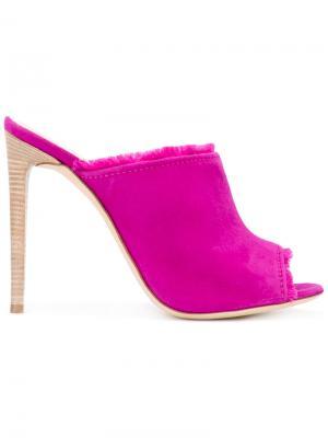Мюли с необработанными краями Giuseppe Zanotti Design. Цвет: розовый и фиолетовый