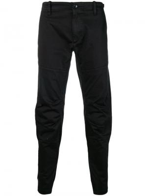 Draped slim-fit trousers CP Company. Цвет: черный