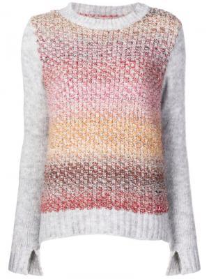 Вязаный свитер Barbour. Цвет: серый