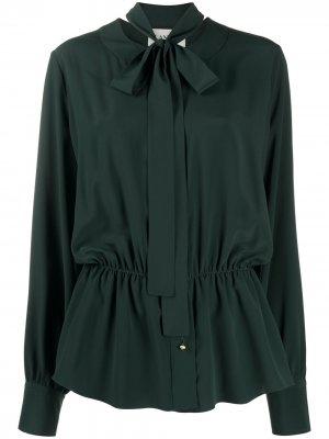 Блузка с бантом LANVIN. Цвет: зеленый