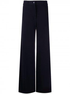 Однотонные расклешенные брюки Brag-wette. Цвет: синий