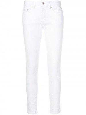 Укороченные брюки скинни Dondup. Цвет: белый