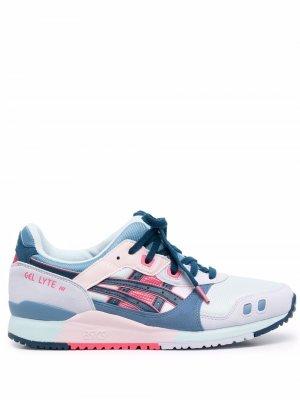 Кроссовки в стиле колор-блок с логотипом ASICS. Цвет: синий