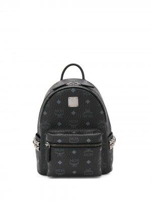 Мини-рюкзак с монограммой MCM. Цвет: черный