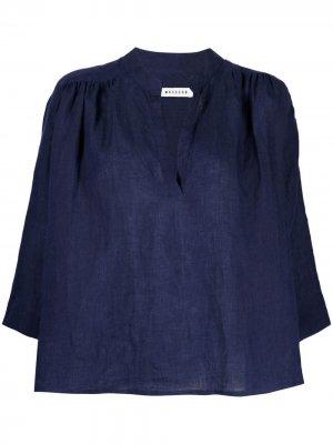 Блузка с укороченными рукавами Masscob. Цвет: синий