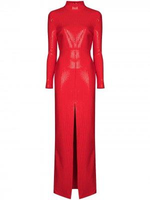 Платье макси Harper с пайетками Solace London. Цвет: красный