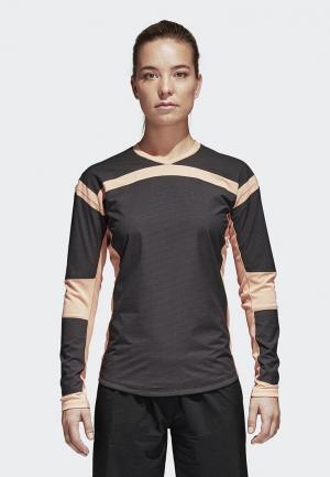 Лонгслив спортивный adidas. Цвет: серый