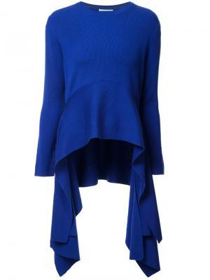 Джемпер с удлиненной спинкой и драпировками по бокам Altuzarra. Цвет: синий