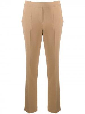 Прямые брюки средней посадки Luisa Cerano. Цвет: нейтральные цвета
