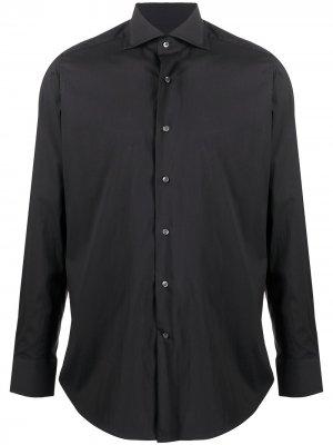 Рубашка с длинными рукавами Tagliatore. Цвет: черный