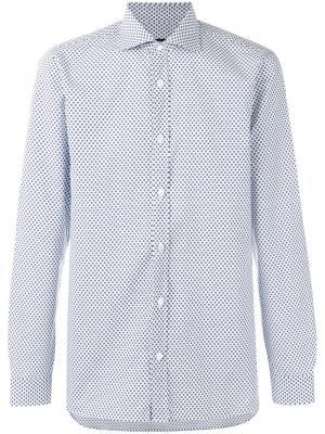 Рубашка с цветочным узором Z Zegna. Цвет: белый