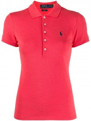 Приталенная рубашка поло Polo Ralph Lauren. Цвет: красный