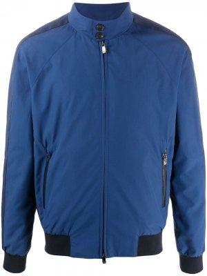 Спортивная куртка с отделкой в полоску Corneliani. Цвет: синий