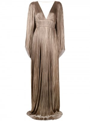 Плиссированное вечернее платье Zakiya Maria Lucia Hohan. Цвет: коричневый