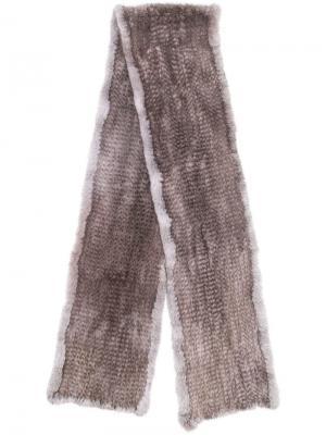 Fur scarf Liska. Цвет: серый