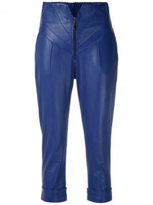 Укороченные брюки Andrea Bogosian. Цвет: синий