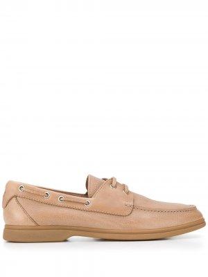 Топсайдеры на шнуровке Brunello Cucinelli. Цвет: коричневый