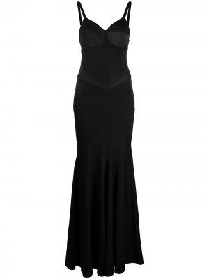 Вечернее платье со вставками Seen Users. Цвет: черный