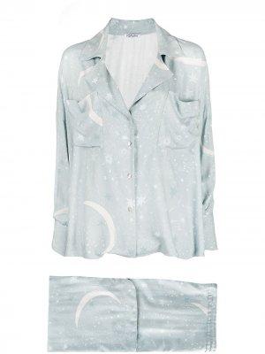 Пижама с принтом Parlor. Цвет: синий