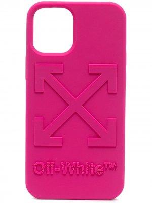 Чехол для iPhone 12 mini с логотипом Arrows Off-White. Цвет: розовый